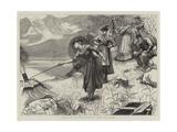 Tourists in the Bavarian Alps, the Echo Giclee Print by Hubert von Herkomer