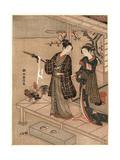 Engawa No Wakai Danjo Giclee Print by Suzuki Harunobu