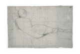 Recumbent Female Nude and Partial Study of a Second Female Figure, C. 1855-1860 Giclee Print by Thomas Couture