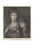 Eliza Anne Linley (Mrs Sheridan) and Her Brother Giclee Print by Thomas Gainsborough