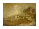 A Landscape with Horsemen Giclee Print by Thomas Gainsborough
