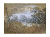 Landscape with a Road at the Edge of a Wood Giclee Print by Thomas Gainsborough