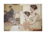 Drawing Room Scene with a Young Priest at the Piano Giclee Print by Thomas Armstrong