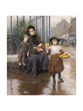 The Pinch of Poverty, 1889 Giclee Print by Thomas Benjamin Kennington