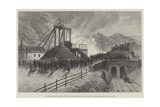 Mauricewood Colliery, Penicuik, Midlothian, the Scene of the Late Disastrous Fire Giclee Print by Thomas Harrington Wilson