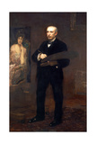 Portrait of James Carroll Beckwith, 1904 Giclee Print by Thomas Cowperthwait Eakins