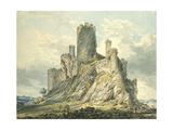 Conway Castle, C.1793 (Watercolour, Touched with the Reed Pen, over Indications in Graphite) Giclee Print by Thomas Girtin