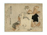 Oshikyo Giclee Print by Teisai Hokuba