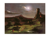Landscape (Moonlight), C.1833-34 Impression giclée par Thomas Cole