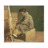 Young Painter at His Easel Giclee Print by Theodore Gericault