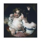Calmady Children, 1823 Giclée-tryk af Thomas Lawrence