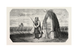A Turkish Sentinel, Watercolor, 1855 Giclee Print by Theodore Valerio