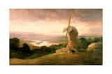 The Tyne from Windmill Hills, Gateshead, C.1818 Giclee Print by Thomas Miles Richardson