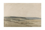 Estuary of the River Taw, Devon, C.1801 Giclee Print by Thomas Girtin