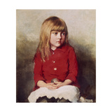 Portrait of a Young Girl Giclee Print by John Everett Millais