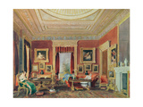 The Drawing Room, Leigh Court, Bristol, C.1840 Giclee Print by Thomas Leeson the Elder Rowbotham