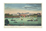 A View of the Royal Hospital at Chelsea and the Rotunda in Ranelaigh Gardens Giclee Print by Thomas Bowles