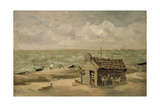 A Fisherman's Hut by the Sea Giclee Print by Thomas Churchyard