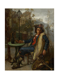 Young Italian Street Musician, C.1877 Giclee Print by Thomas Couture