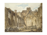 The Ruins of the Chapel in the Savoy Palace Giclee Print by Thomas Girtin