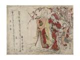 Gulls, 1794 or 1806 Giclee Print by Teisai Hokuba