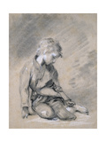 Beggar Boy, About 1780 (Black Chalk and Stump, Heightened with White, on Pale Buff Paper) Giclee Print by Thomas Gainsborough