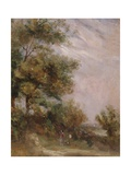 Landscape with Trees and Figures Giclee Print by Thomas Churchyard