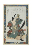 Armed Old Warrior Giclee Print by Teisai Hokuba
