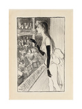 Yvette Gilbert at the Theatre, (Brush and Black Ink, Charcoal and Black Crayon on Paper) Giclee Print by Theophile Alexandre Steinlen