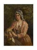 The Orange Seller Giclee Print by Thomas Faed