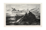 Poor Mariners, Exhibition of the British Institution, 1851 Giclee Print by Thomas Danby
