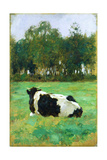 A Cow in the Meadow Giclee Print by Thomas Ludwig Herbst