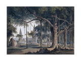 Hindu Temples at Agori, Uttar Pradesh Giclee Print by Thomas & William Daniell