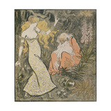 The Enchanter Merlin and the Fairy Vivien in the Forest of Broceliande Giclee Print by Theophile Alexandre Steinlen