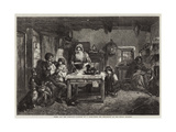 Home and the Homeless Giclee Print by Thomas Faed