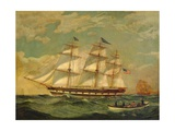 Ship Houqua, 1841 Giclee Print by Thomas Birch