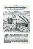 Four Sailing Boats from 'India Orientalis', 1598 Lámina giclée por Theodore de Bry