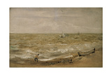 Beach Scene Giclee Print by Thomas Churchyard