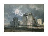 Stonehenge During a Thunderstorm Giclee Print by Thomas Girtin