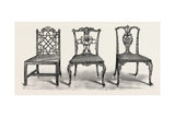 Chairs, 1754, UK Giclee Print by Thomas Chippendale