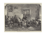 Patron and Patroness's Visit to the Village School Giclee Print by Thomas Faed