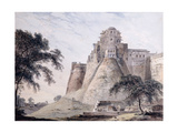 View of the Fort, Jaunpur, Uttar Pradesh Giclee Print by Thomas & William Daniell