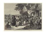 The Arrival of the Coach, a Roadside Inn a Century Ago Giclee Print by Thomas Falcon Marshall