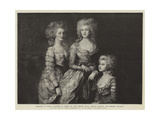 Portraits of Three Daughters of George Iii Giclee Print by Thomas Gainsborough