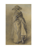 Study of a Woman, Seen from the Back Giclee Print by Thomas Gainsborough