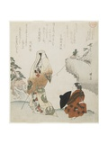 Lady and Young Prince, C. 1816-1819 Giclee Print by Teisai Hokuba