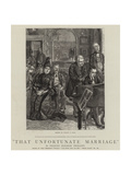 That Unfortunate Marriage Giclee Print by Sydney Prior Hall