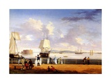 New York Harbour, C.1810 Giclee Print by Thomas Birch