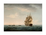 Rescue of the Guardian's Crew by a French Merchant Ship, 2nd January 1790 Giclee Print by Thomas Buttersworth