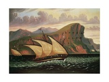 Felucca in Gibraltar Giclee Print by Thomas Chambers